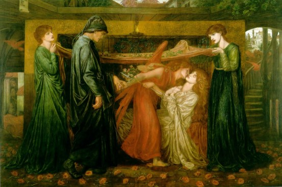 Dante Gabriel Rossetti. Dante's Dream at the Time of the Death of Beatrice. 1871. Oil on canvas. Walker Art Gallery, Liverpool, UK.